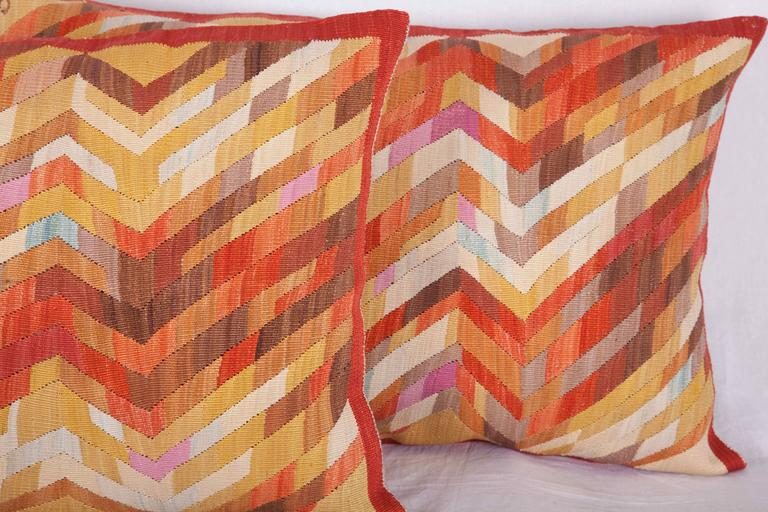 Contemporary Silk Kilim Pillows In Excellent Condition For Sale In Istanbul, TR