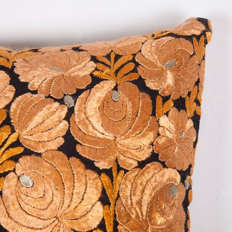 Suzani Antique Pillow Made Out of an Hungarian Matyo Embroidery For Sale