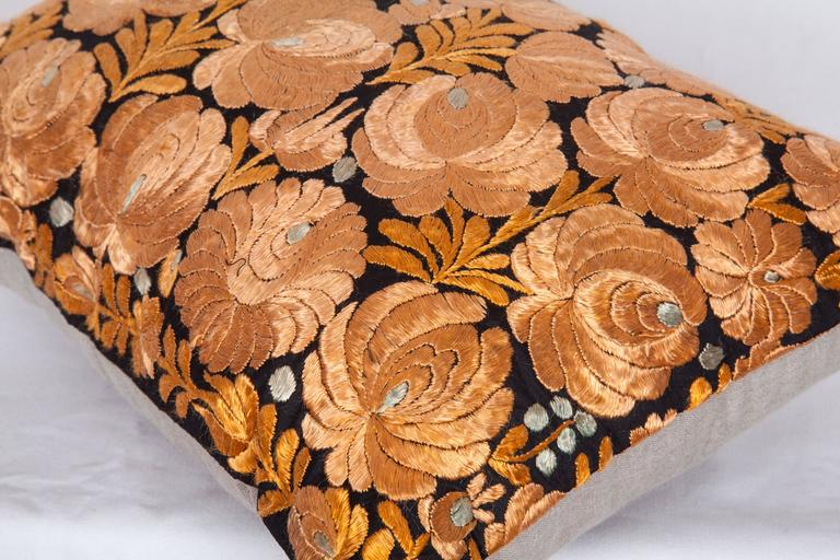 20th Century Antique Pillow Made Out of an Hungarian Matyo Embroidery For Sale