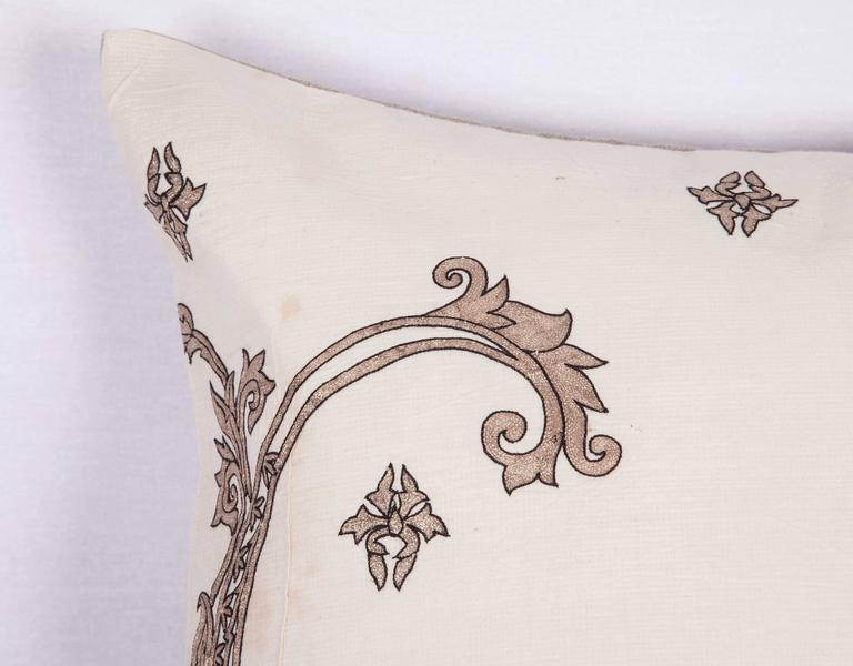 Italian Antique Pillow Made Out of a 19th century or Earlier European Silver Embroidery For Sale