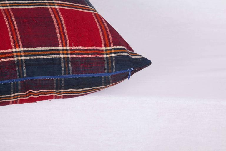 Pillow Made Out of a Mid-20th Century, Turkmen Silk Shawl In Good Condition For Sale In Istanbul, TR
