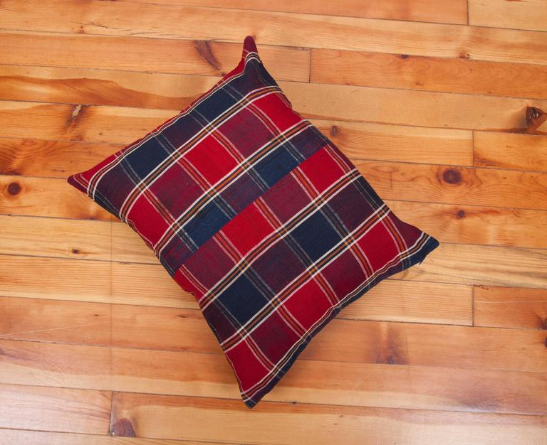 Pillow Made Out of a Mid-20th Century, Turkmen Silk Shawl For Sale 1