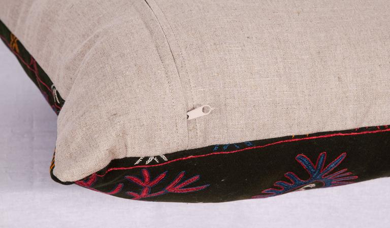 Kyrgyzstani Pillow Made Out of an Early 20th Century Kyrgyz Embroidery For Sale