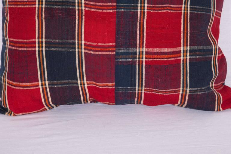 Hand-Woven Pillow Made Out of a Mid-20th Century Turkmen Silk Shawl For Sale