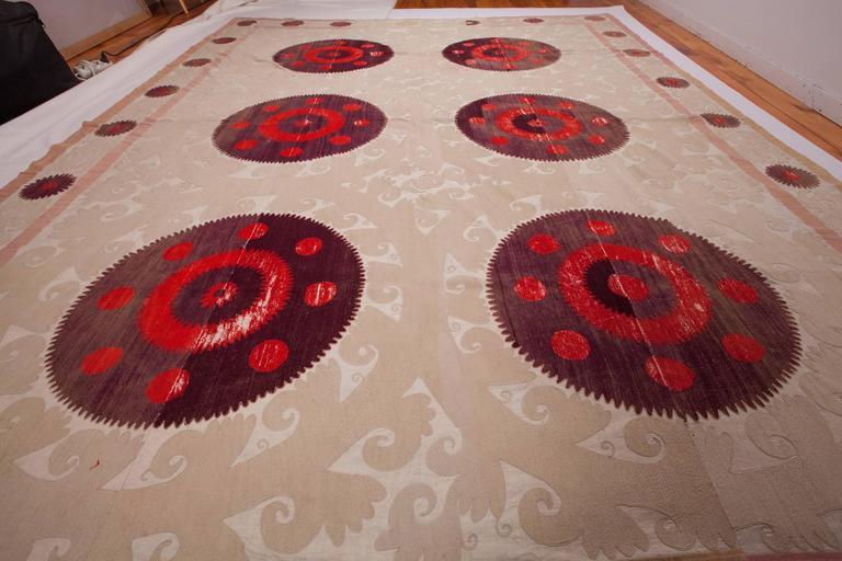 Embroidered First Half 20th Century Uzbek Samarkand Suzani For Sale