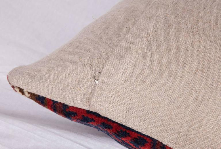 Woven Antique Pillow Made Out of a 19th Century Baluch Rug Fragment For Sale