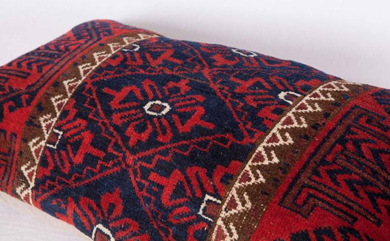 Antique Pillow Made Out of a 19th Century Baluch Rug Fragment In Good Condition For Sale In Istanbul, TR