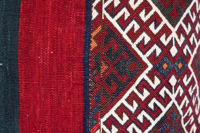 Hand-Woven Antique Pillow Made Out of a 19th Century Anatolian Bag For Sale