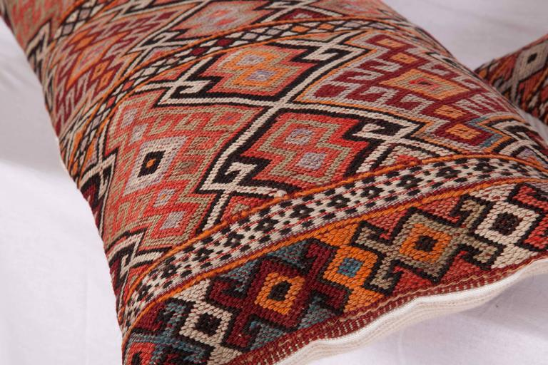 Hand-Woven Old Anatolian Sumak Pillow Cases, Early 20th Century For Sale
