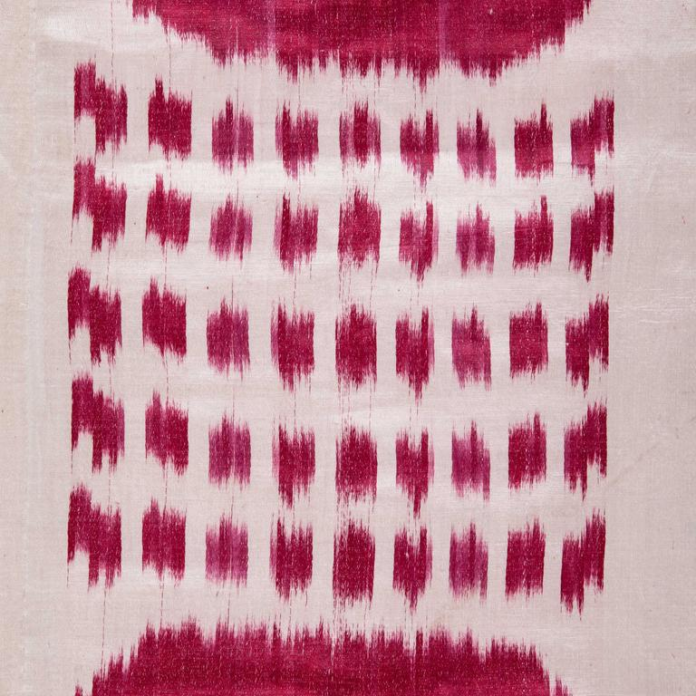 19th Century Central Asian Uzbek Ikat Panel, Hanging In Good Condition For Sale In Istanbul, TR