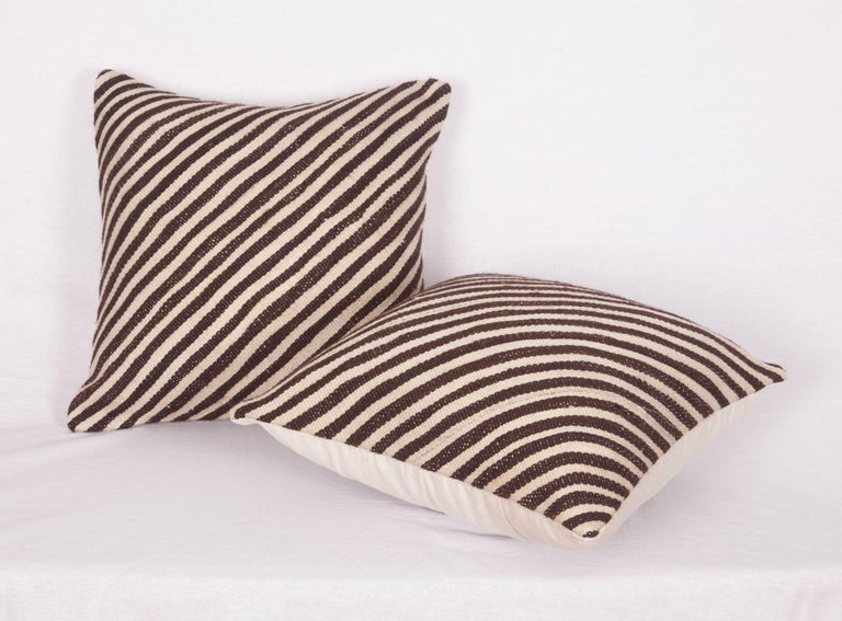 Pillow Cases Fashioned Out of a Mid-20th Century Anatolian Angora Siirt Blanket For Sale 1
