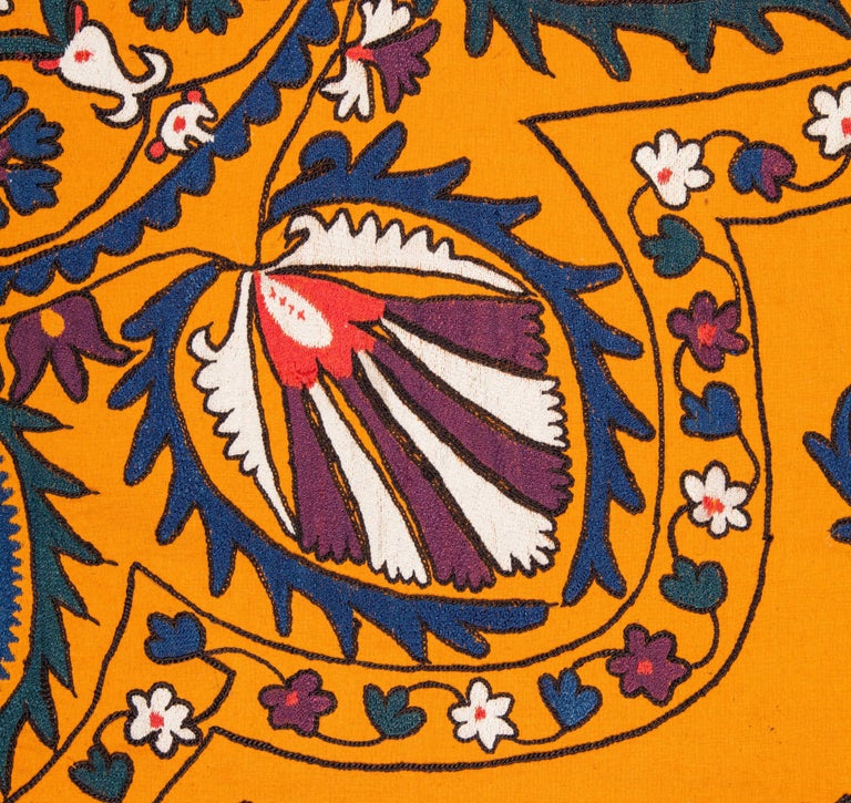 Embroidered Late 19th Century Central Asian Suzani from Tashkent Uzbekistan For Sale