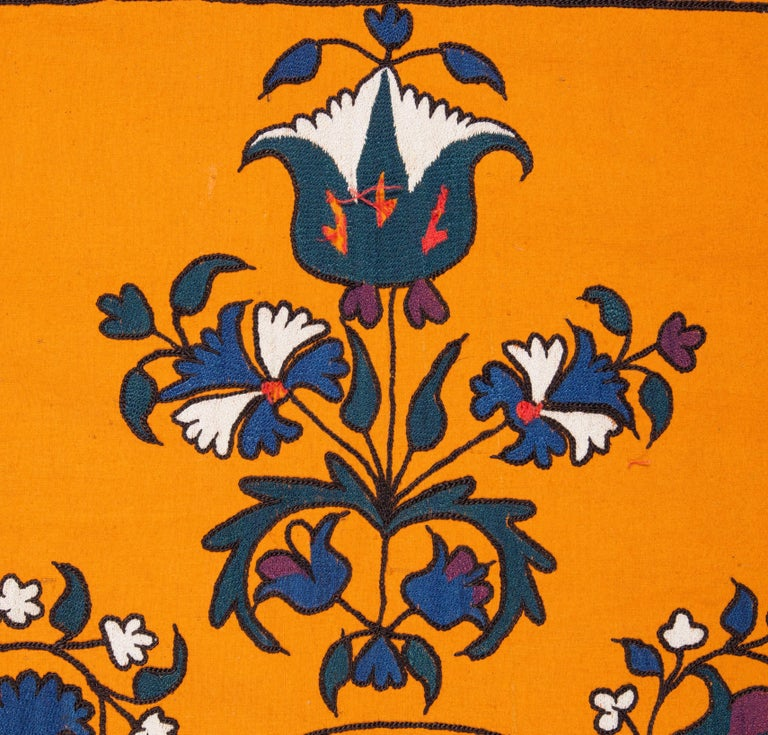 Cotton Late 19th Century Central Asian Suzani from Tashkent Uzbekistan For Sale