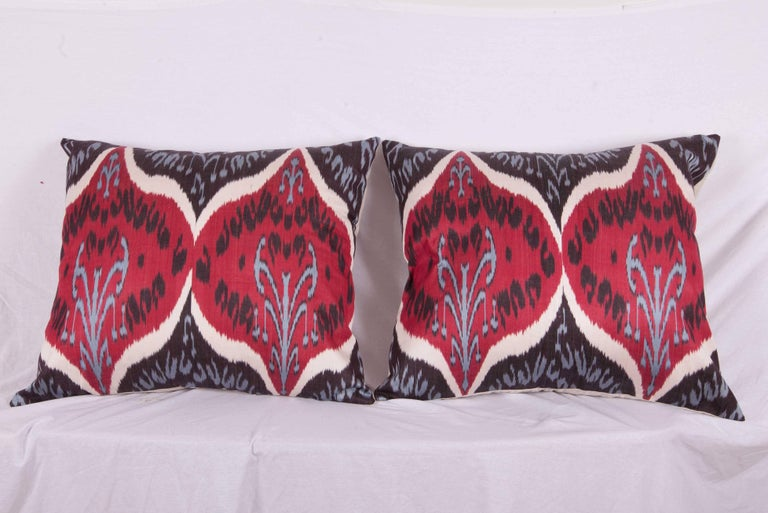 Large Pillow Cases Fashioned Out Of Contemporary Uzbek