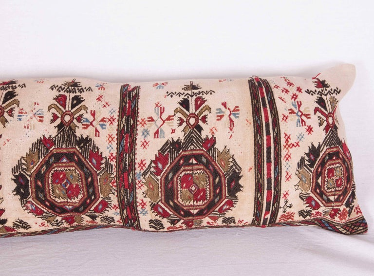 Suzani Long Antique Pillow Case Made from a 19th Century Macedonian Greek Embroidery For Sale