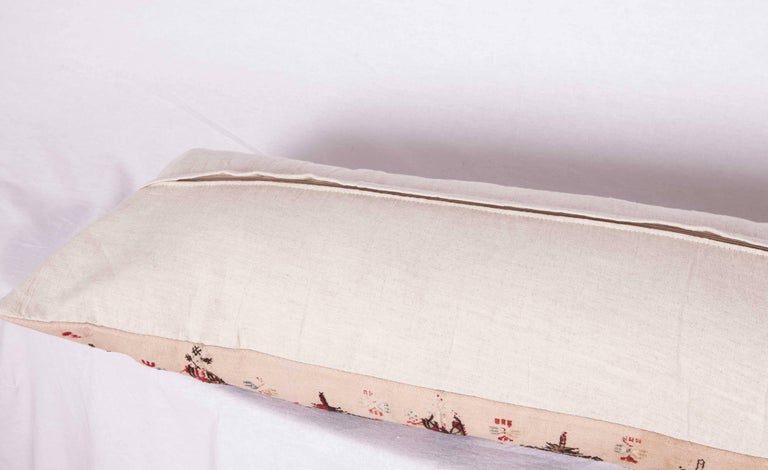 Long Antique Pillow Case Made from a 19th Century Macedonian Greek Embroidery In Good Condition For Sale In Istanbul, TR