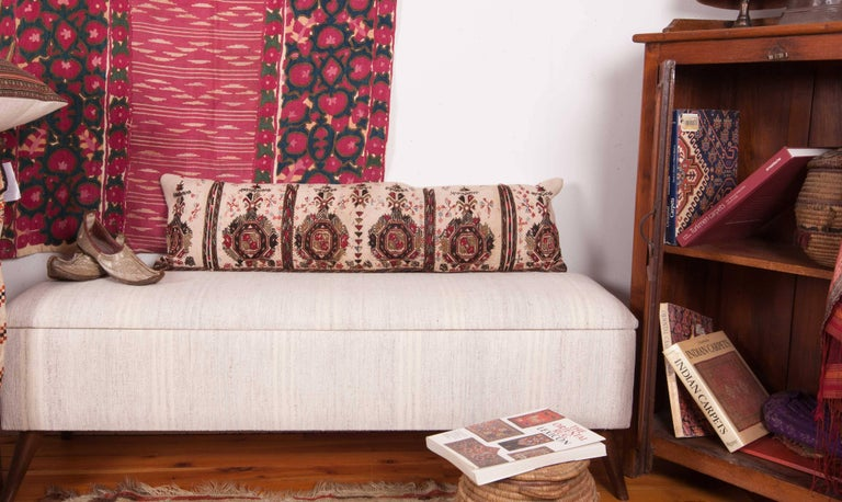 Late 19th Century Long Antique Pillow Case Made from a 19th Century Macedonian Greek Embroidery For Sale