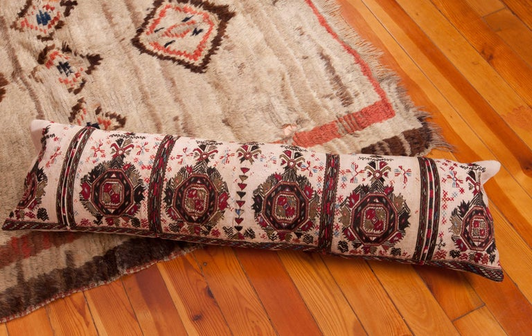 Long Antique Pillow Case Made from a 19th Century Macedonian Greek Embroidery For Sale 1