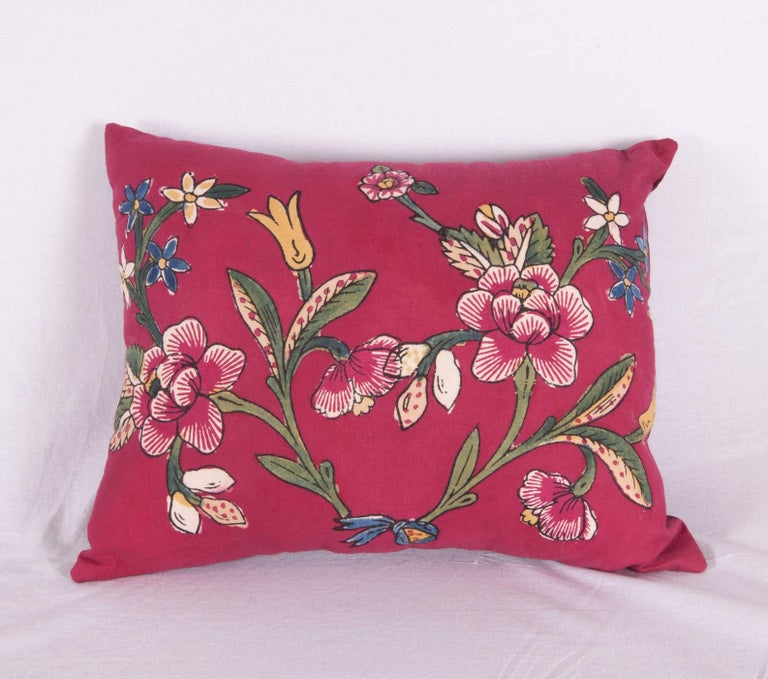 Pillow Cases Made From A Turkish Hand Block Printed Mid 20th Century
