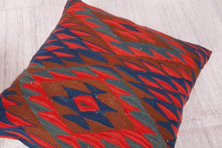 Wool Antique Kilim Pillow Cases Fashioned from Late 19th Century Sharkoy Kilim For Sale