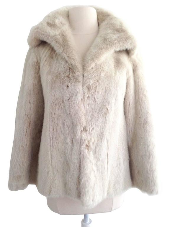 1970s Emilio Gucci Winter White Mink Fur Jacket at 1stdibs