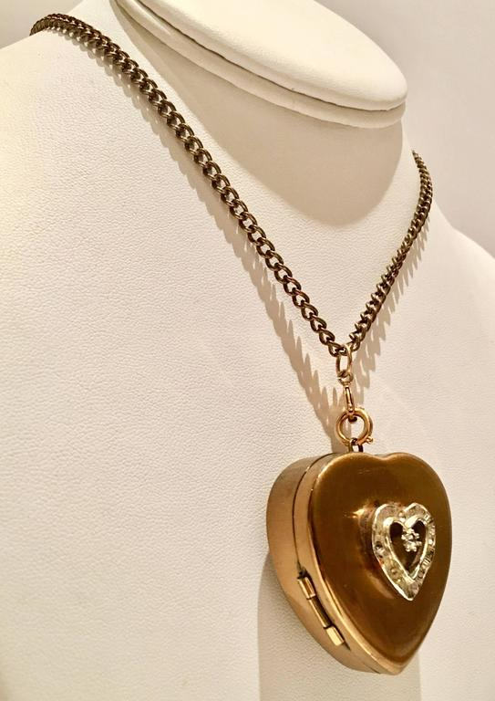 1950s brass heart locket music box necklace for sale at 1stdibs aloadofball