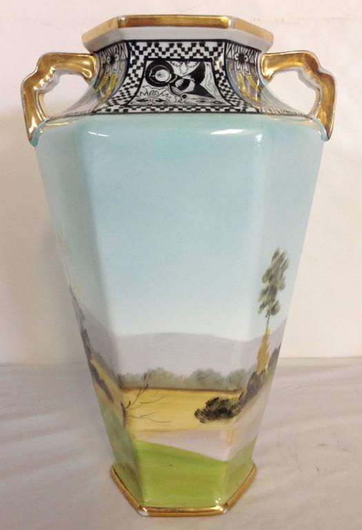 Antique Art Deco Noritake Morimura Vase Signed At 1stdibs
