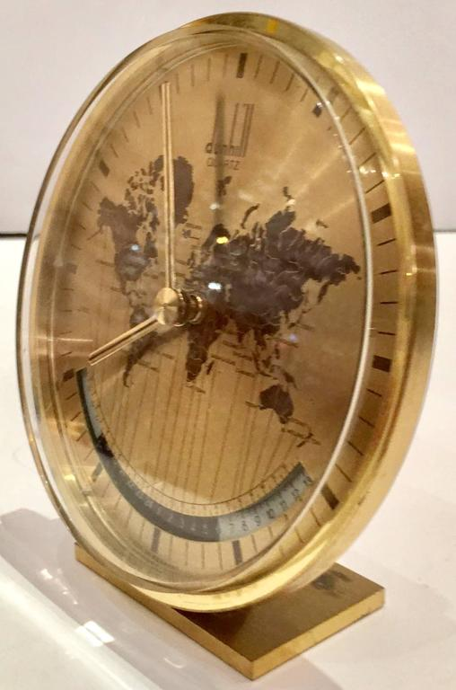 Alfred Dunhill Art Deco World Clock By Kienzle Germany At
