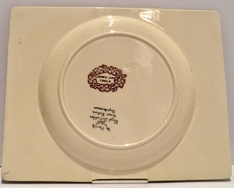 Mid-20th Century Royal Staffordshire Pair Of Transferware Square Plates For Sale 3