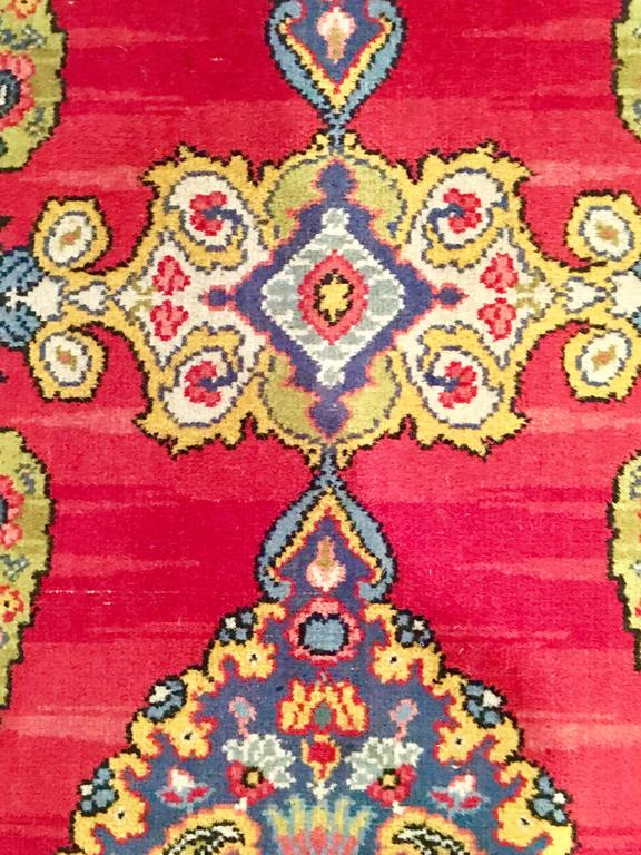 Early 20th Century Silk & Wool Paisley Blossom Rug For Sale 3