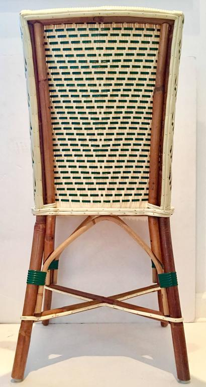 Vintage Italian Woven Rattan Bistro Chair For Sale At 1stdibs