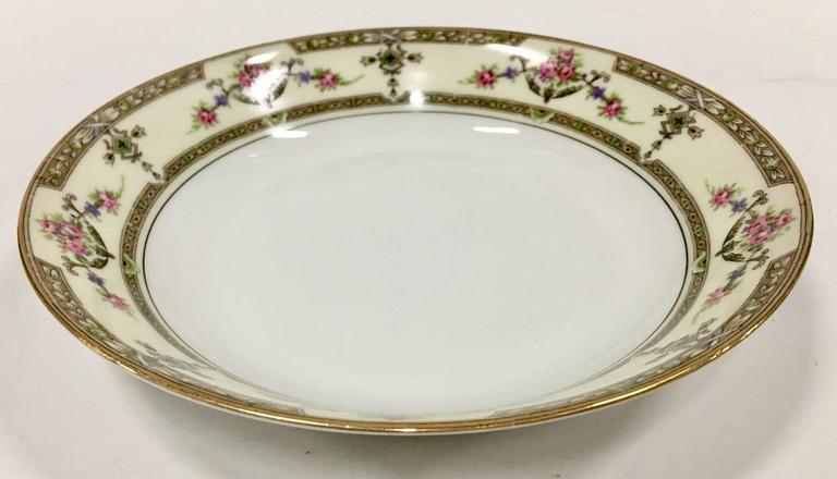 Art Nouveau Limoges France Porcelain Dinnerware Set of 15 & Limoges France Porcelain Dinnerware Set of 15