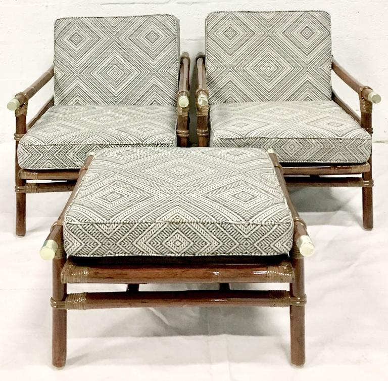 1950u0027s Newly Restored John Wisner Designed For Ficks Reed Campaign Style  Eight Piece Seating Suite