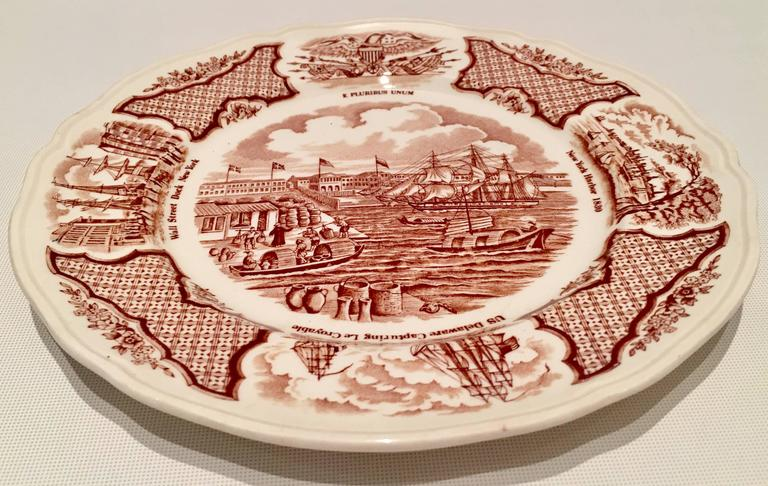English 70u0027S Alfred Meakin Staffordshire England Historical Dinnerware S/23 For Sale & 70u0027S Alfred Meakin Staffordshire England Historical Dinnerware S/23 ...