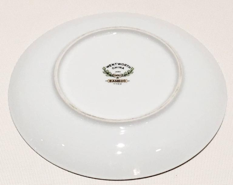 20th Century Japanese Dinnerware Ceramic & Platinum