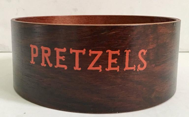20th Century Mid-Century Modern Wood Snack Bowl Set of Three Pieces For Sale