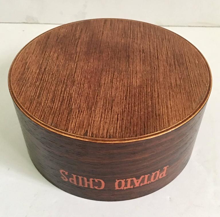 Mid-Century Modern Wood Snack Bowl Set of Three Pieces For Sale 3
