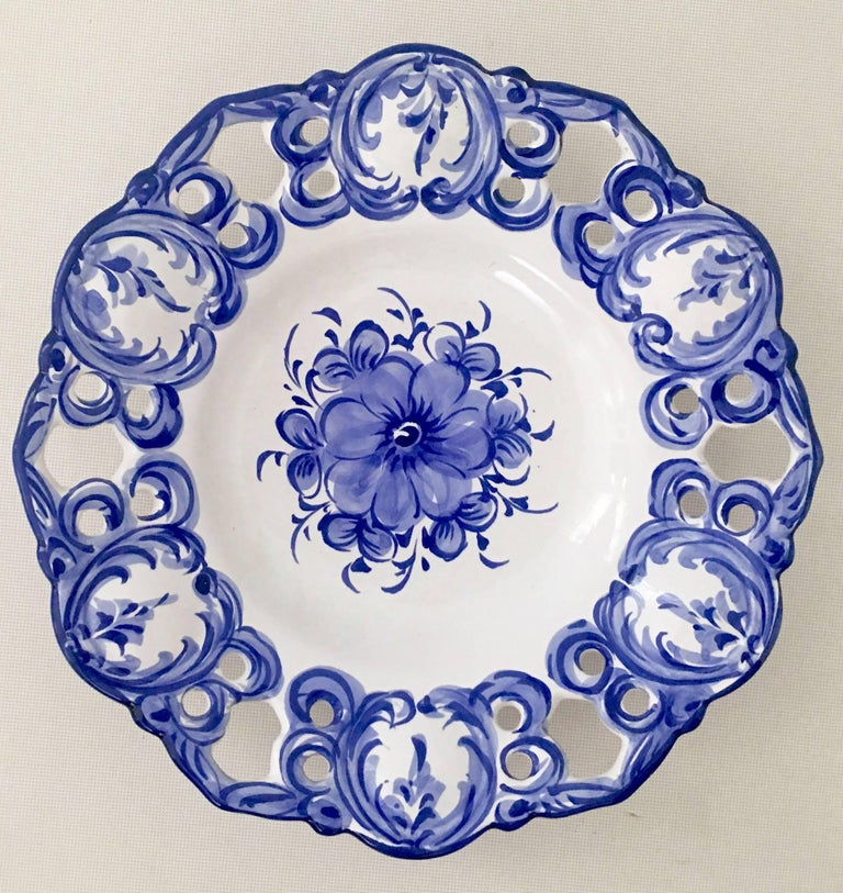 Hand Painted Blue Dishes From Portugal