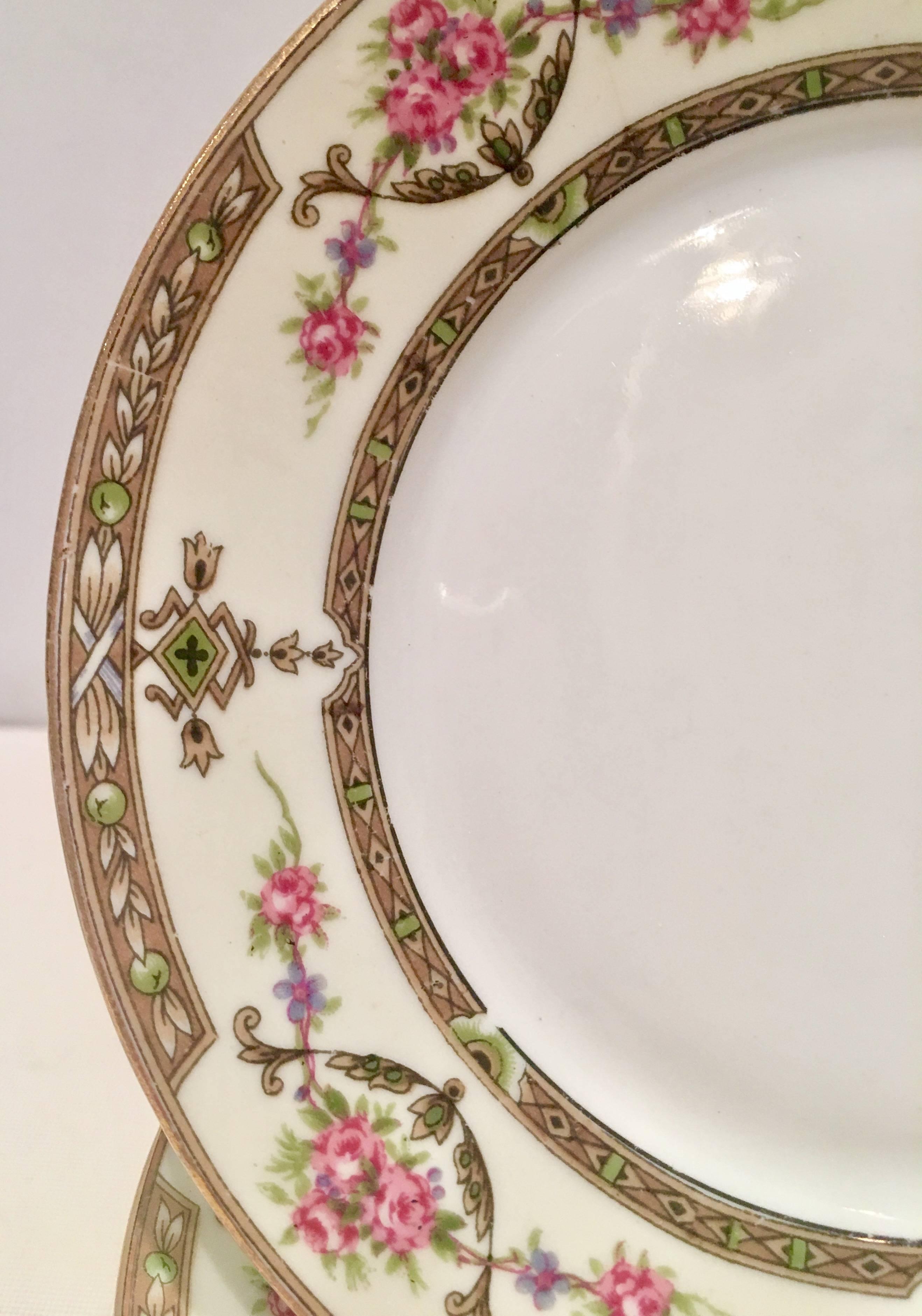 Vintage Limoges France Porcelain Salad Dessert Plates  sc 1 st  1stDibs & Vintage Limoges France Porcelain Salad Dessert Plates \