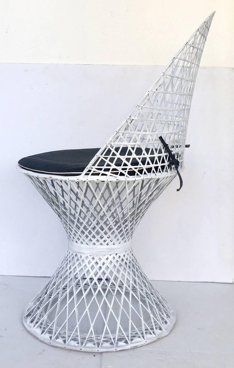 20th Century Mid-Century Modern Pair of Spun Fiberglass Slipper Chairs by Russell Woodard For Sale