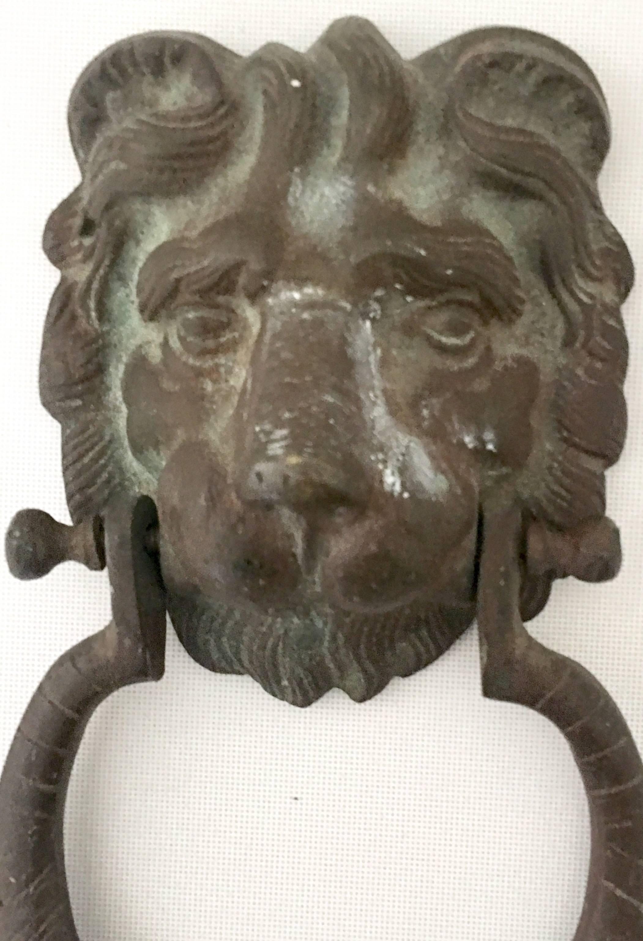 20th Century Bronze Verdigris Lion Door Knocker At 1stdibs