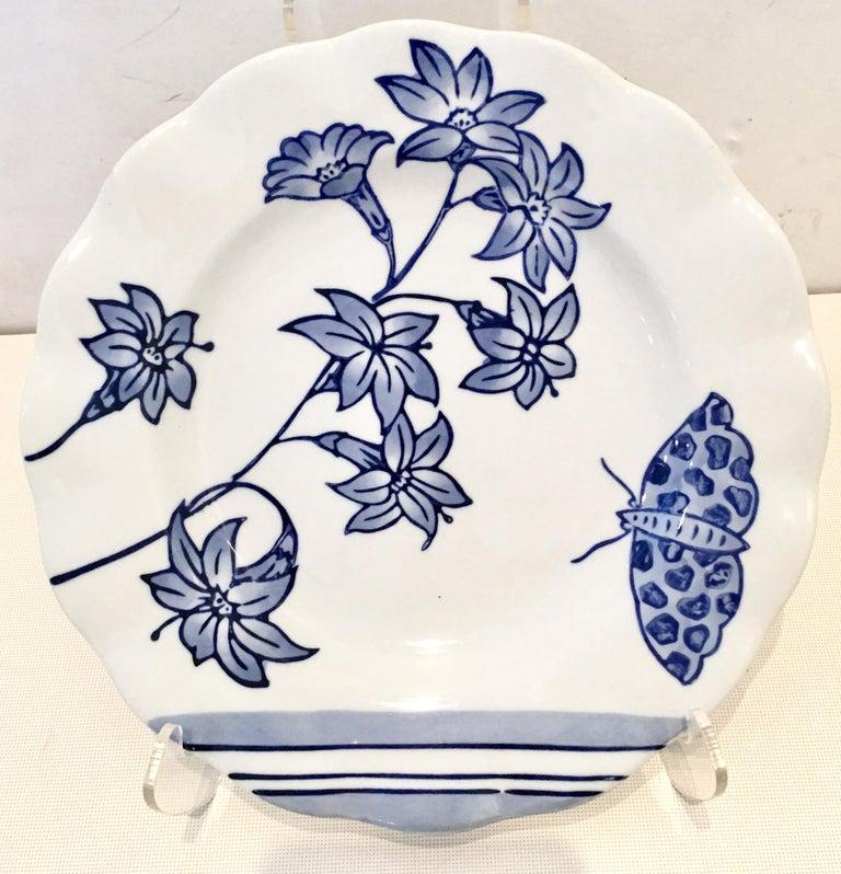 Vintage Ceramic Blue & White Salad/Dessert Plates S/9 by, Creativeco-Op For Sale 4