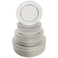 """1960'S Porcelain Dinnerware """"Modulation"""", Tappio Wikalla for Rosenthal S/24"""