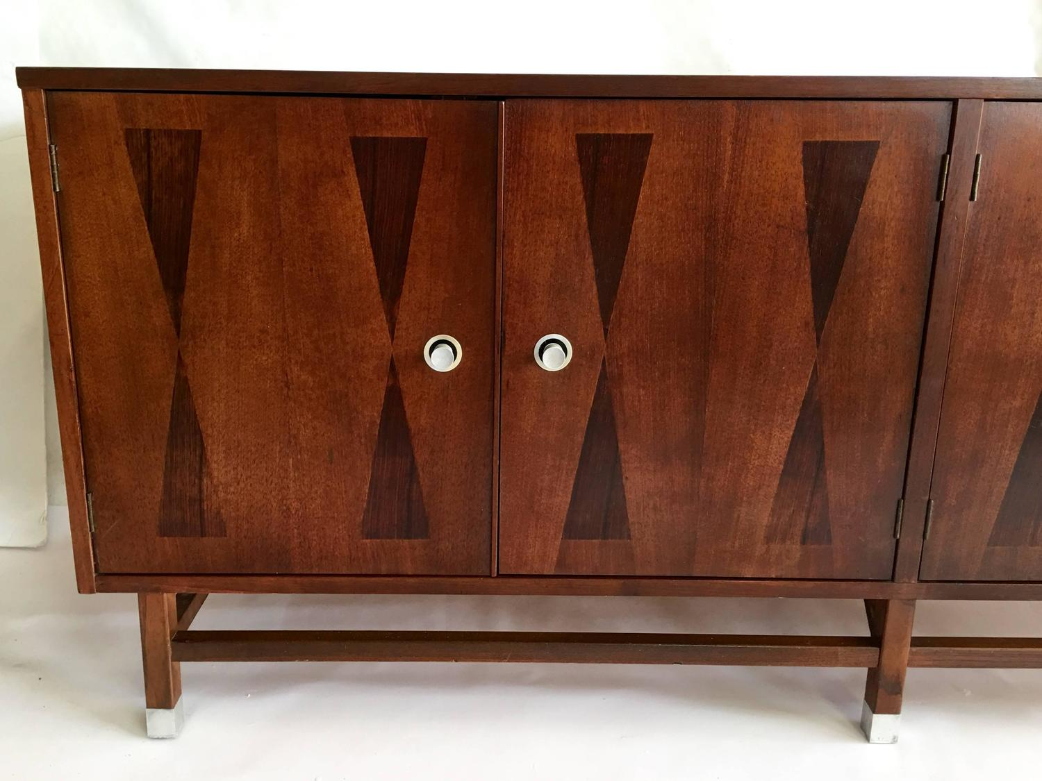 Mid century modern inlay sideboard by stanley at 1stdibs for Mid century furniture florida