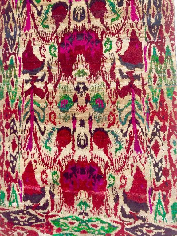 Vintage And Vibrant India Silk Ikat Quot Sari Quot Rug For Sale At