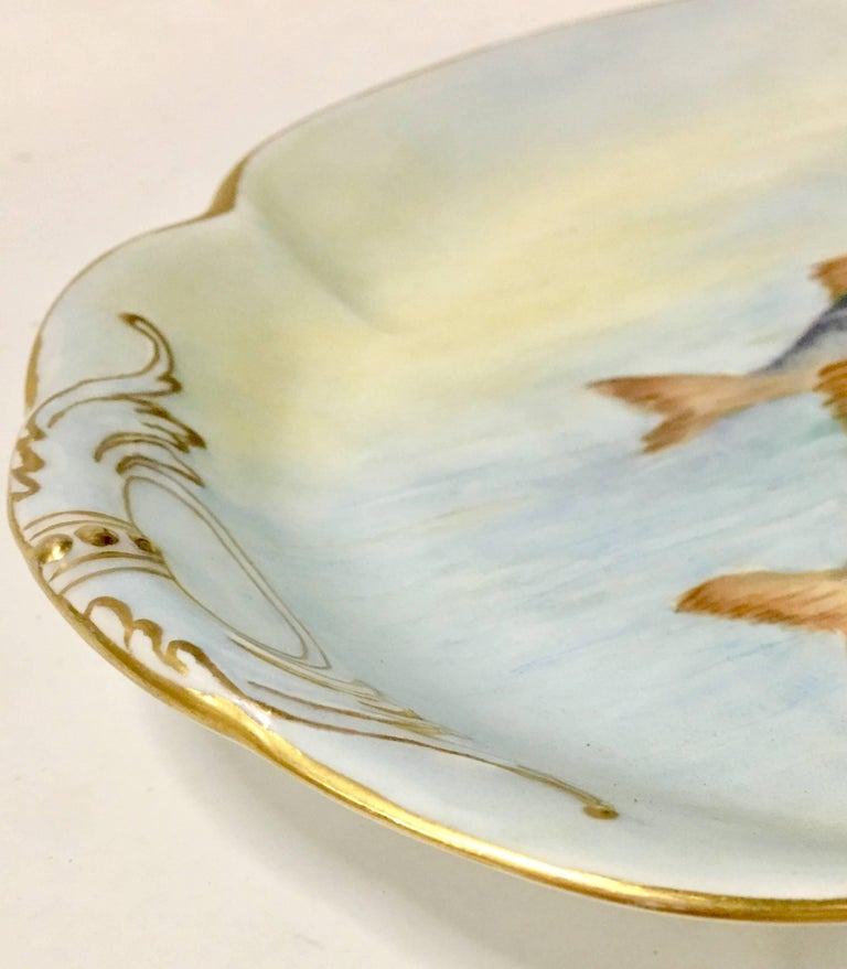 Antique french limoges sea life fish serving platter at for Fish serving platter