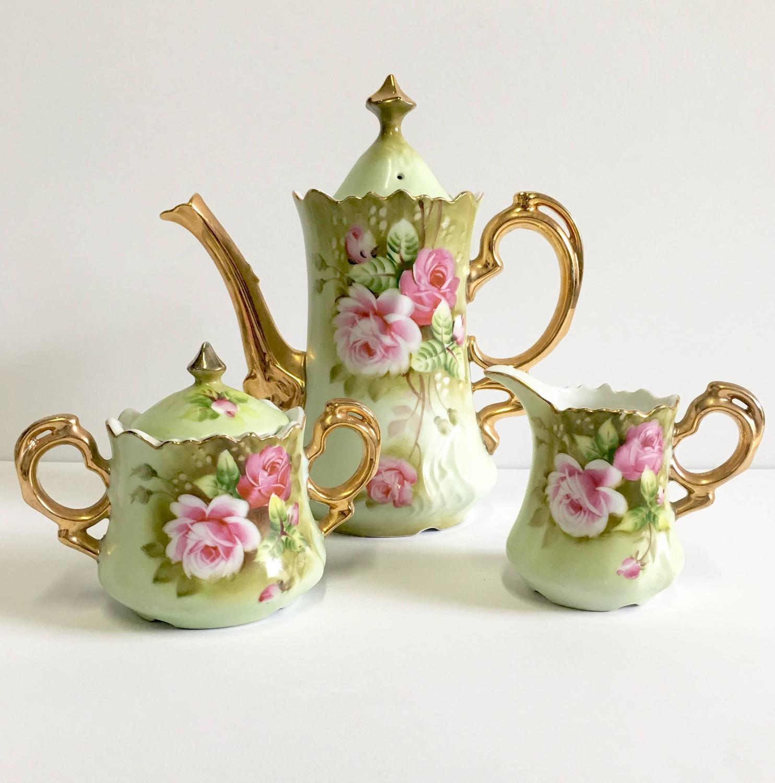 tea set vintage roses wallpaper - photo #48