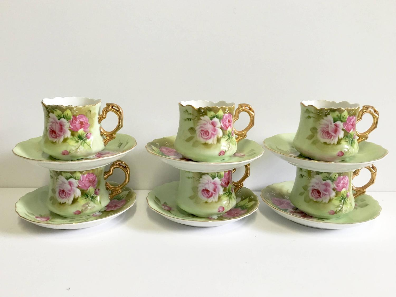 tea set vintage roses wallpaper - photo #18