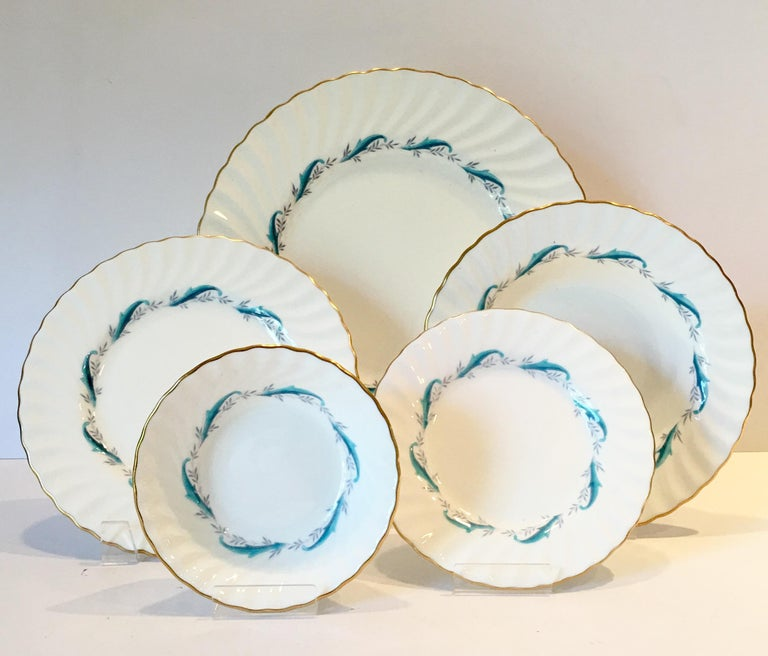 1960 S English Bone China Dinnerware 45 Piece Set In The