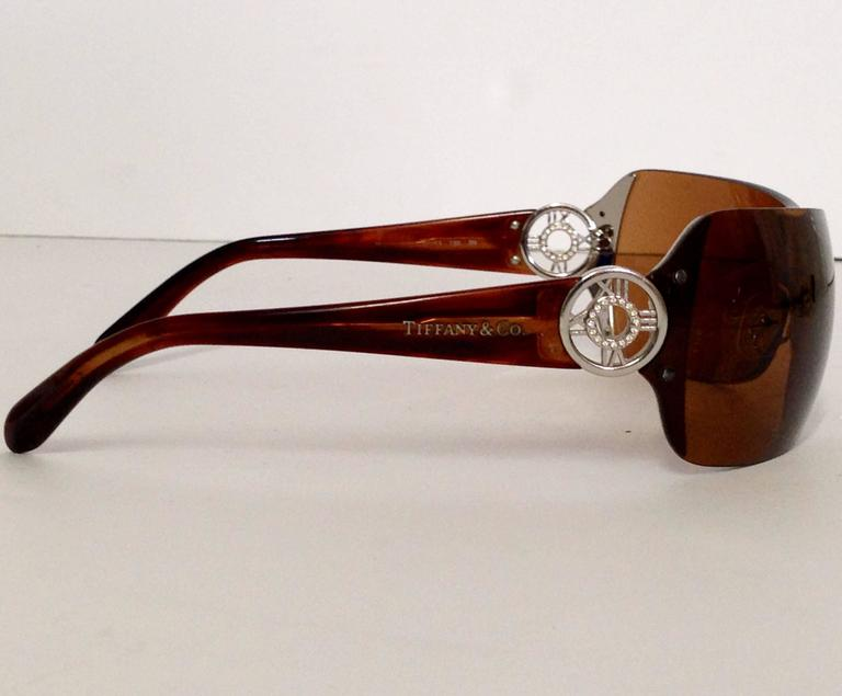 Tiffany Sunglasses  tiffany and co brown tinted tortoise swarovski crystal sunglasses